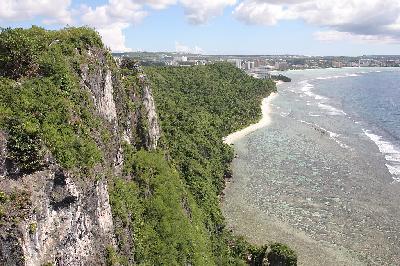 남태평양 괌 섬 미국령으로 반환