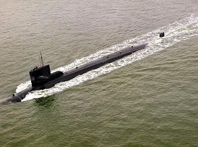 미국 첫 원자력잠수함 진수