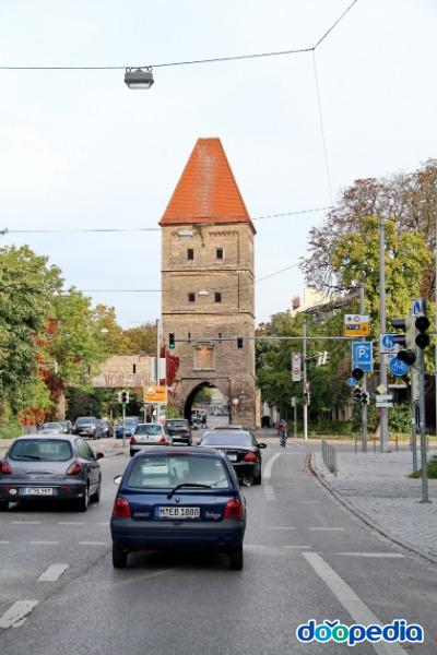 아우크스부르크 중심가에서 고속도로 가는 길