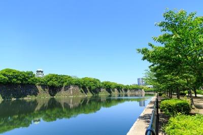오사카성, 해자