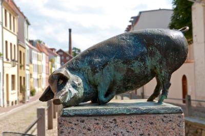 비스마르의 돼지동상  01