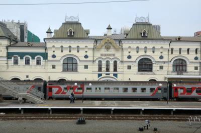 블라디보스토크 기차역 플랫폼