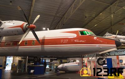 에비드롬 항공우주 박물관 내부