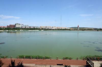 샹그릴라 호텔 다롄 앞 호수 04
