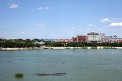 샹그릴라 호텔 다롄 앞 호수 07