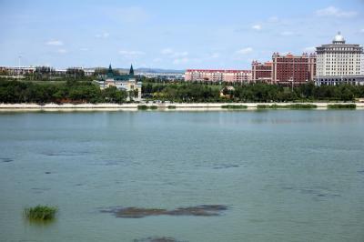 샹그릴라 호텔 다롄 앞 호수 08