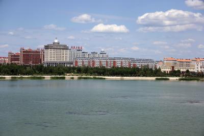 샹그릴라 호텔 다롄 앞 호수 09