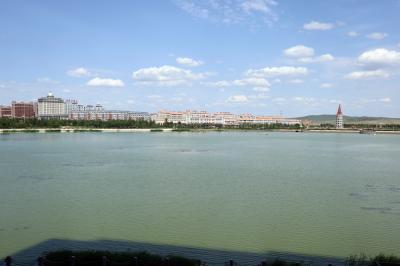 샹그릴라 호텔 다롄 앞 호수 12