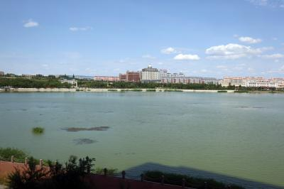 샹그릴라 호텔 다롄 앞 호수 13