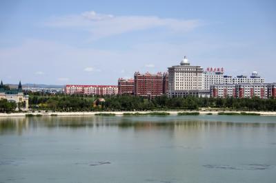 샹그릴라 호텔 다롄 앞 호수 14