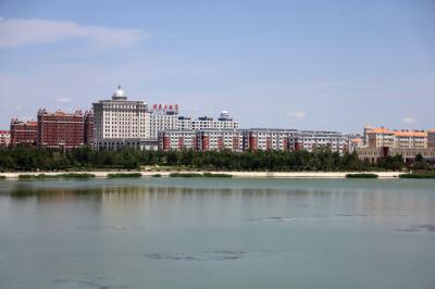 샹그릴라 호텔 다롄 앞 호수 01