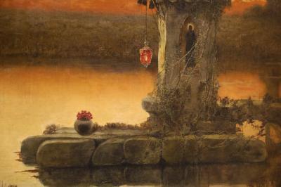 예카테린부르크 미술관, 세라에 오크, 엔리케 '가톨릭의 폐허가있는 풍경' 03