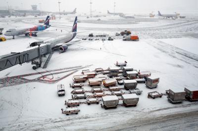 셰레메티예보 공항의 겨울 01