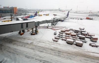 셰레메티예보 공항의 겨울 03