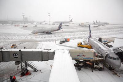 셰레메티예보 공항의 겨울 08