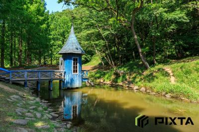 아케보노 어린이 숲 공원, 완파쿠 연못