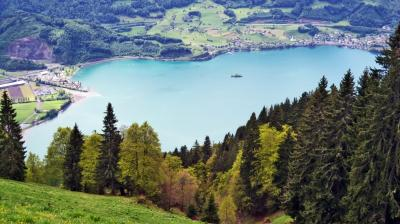 발렌제 호수 정상의 뷰