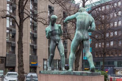 파시퓌스토 공원의 복서 동상
