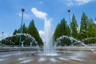 하나하쿠기념공원츠루미녹지, 분수 02
