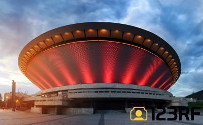 스포덱 스포츠 및 콘서트 경기장 야경