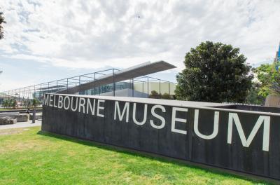 멜버른 박물관의 팻말