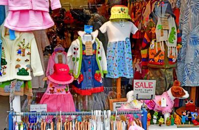 그리니치 시장의 옷판매 04