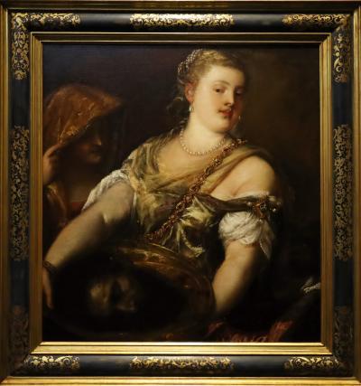 국립서양미술관, 티지아노 베첼리아와 공방 '세례자 요한의 목을 든 살로메'