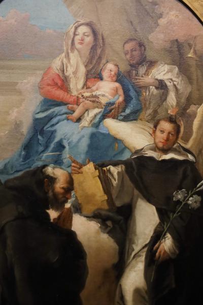 국립서양미술관, 조반니 도메니코 티에폴로 '성모자와 세 명의 성인' 03