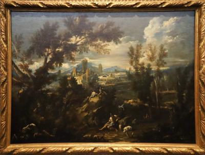 국립서양미술관, 알레산드로 마냐스코 '양치기가 있는 풍경'
