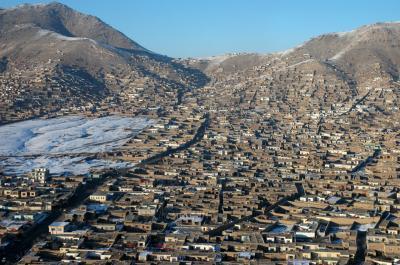 상공에서 본 카불의 풍경 04