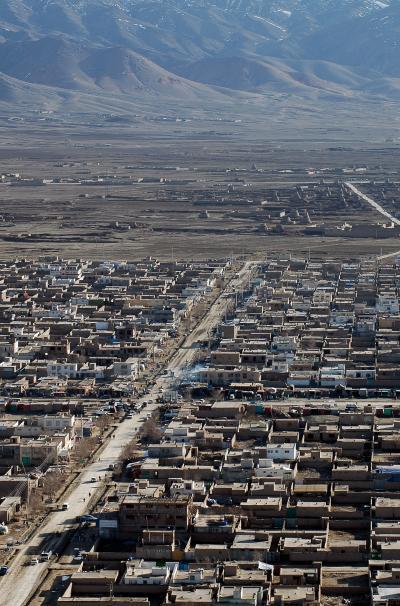 상공에서 본 카불의 풍경 10