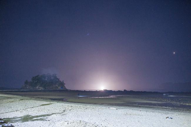 무창포 해변의 밤