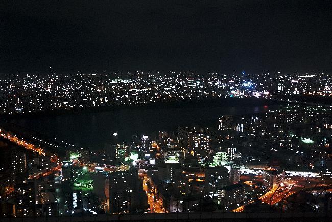 오사카의 야경을 한눈에