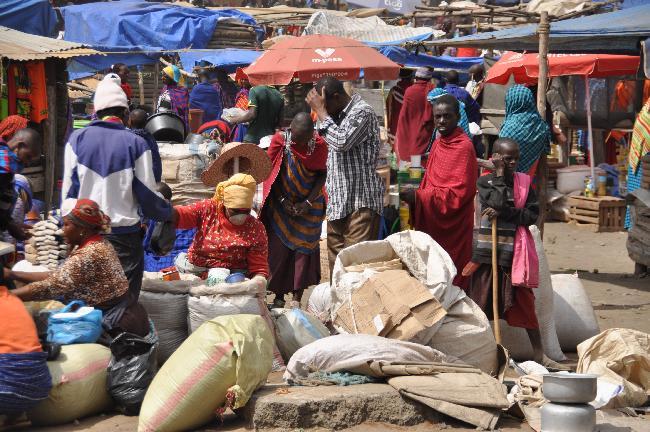 탄자니아의재래시장, 시장사람들풍경