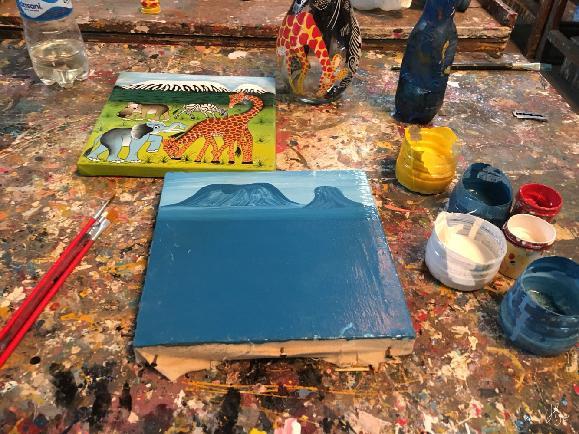 탄자니아 팅가팅가에서 아프리카화풍 그림 그리기!