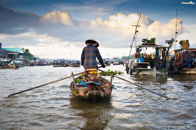 베트남|까이랑 수상시장