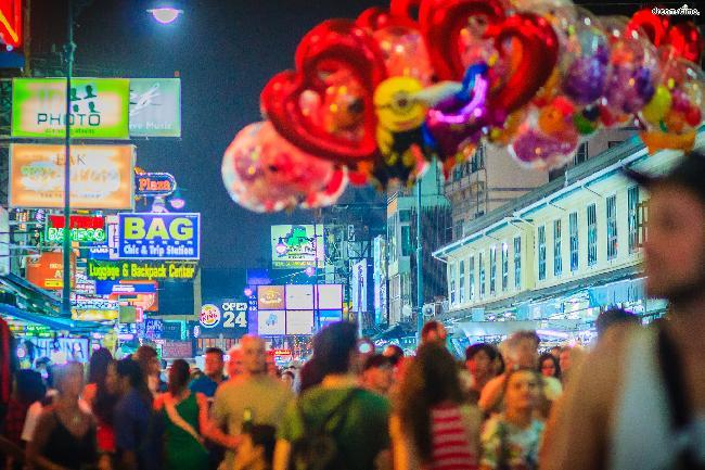 방콕의 번화가