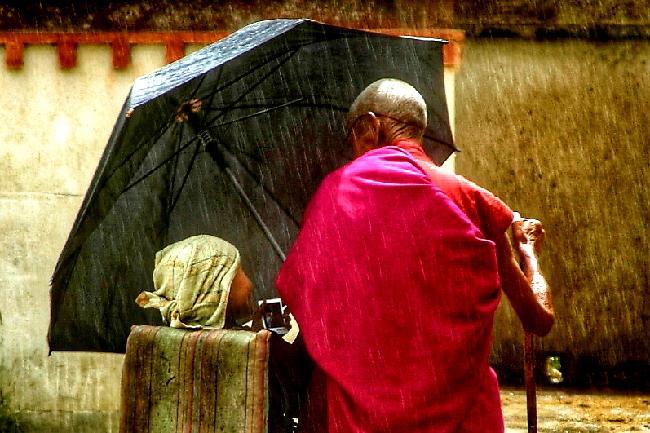 티베트 사람 풍경