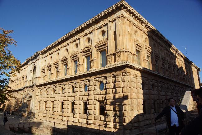 카를로스5세 궁전, 알함브라의 르네상스건축물