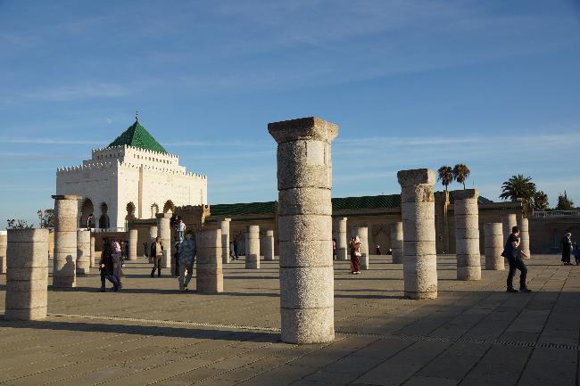 라바트, 하산 탑과 모하메드5세 영묘