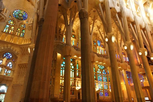 가우디, 사그라다 파밀리아 성당 2. (내부)
