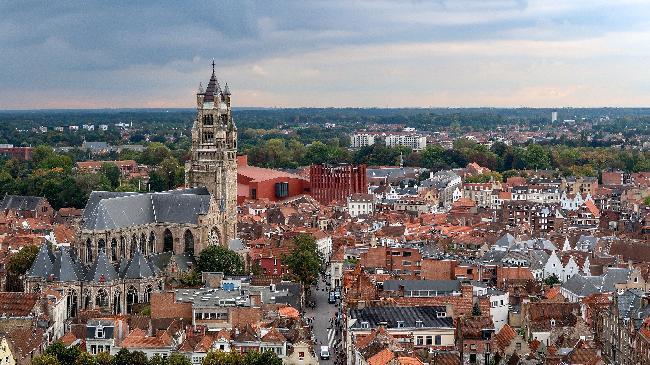 종탑과 풍차 언덕, 브뤼헤의 시원한 풍경
