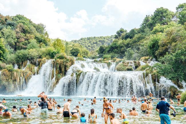 수영을 즐길 수 있는 국립공원, 크르카(Krka)
