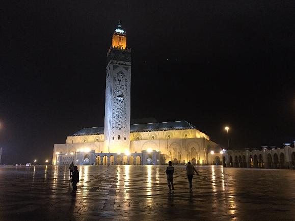 카사블랑카, 모로코의 야경