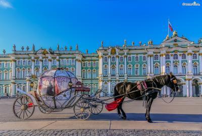 [2] 러시아 상트페테르부르크(Saint Petersburg, Russia)  스무살이 된 샤갈은 당시 러시아 제국의 수도 상트페테르부르크로 향합니다.  그곳에서 그는 화가가 되기 위한 본격적인 미술 수업을 받으며  사진 수정 작업 조수, 간판 그리는 일 등 경제적 활동에도 전념했습니다.  첫 번째 아내이자 평생의 뮤즈인 벨라를 만난 곳도 상트페테르부르크였습니다.