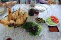 아제르바이잔의 이스마일리에서 먹은 점심