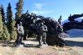 마야산 가는길에 보이던 조각상들