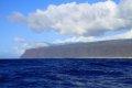 바다에서 본 카우아이 섬