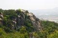 용봉산 - 악귀봉 능선길에서 본 병풍바위