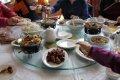 중국 호텔에서의 점심상